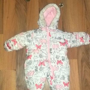 6 to 9 MONTHS BABY GIRL SNOWSUIT